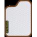 Цвет коврика: Белый Цвет окантовки:  Коричневый