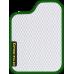 Цвет коврика: Белый Цвет окантовки:  Зелёный
