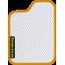 Цвет коврика: Белый Цвет окантовки:  Оранжевый