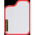 Цвет коврика: Белый Цвет окантовки:  Красный