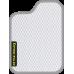 Цвет коврика: Белый Цвет окантовки:  Светло-серый