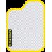 Цвет коврика: Белый Цвет окантовки:  Жёлтый