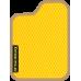 Цвет коврика: Жёлтый Цвет окантовки:  Бежевый
