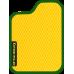 Цвет коврика: Жёлтый Цвет окантовки:  Зелёный