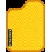 Цвет коврика: Жёлтый Цвет окантовки:  Оранжевый