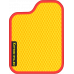 Цвет коврика: Жёлтый Цвет окантовки:  Красный