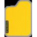 Цвет коврика: Жёлтый Цвет окантовки:  Светло-серый