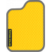 Цвет коврика: Жёлтый Цвет окантовки:  Тёмно-серый