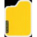 Цвет коврика: Жёлтый Цвет окантовки: Белый